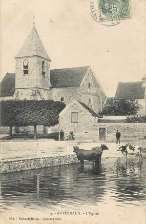 """/ CPA FRANCE 91 """"Auvernaux, l'église"""""""