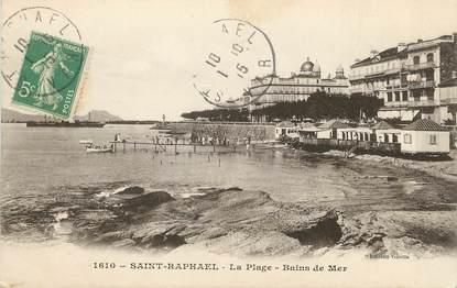 "/ CPA FRANCE 83 ""Saint Raphaël, la plage"""