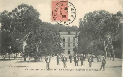 """/ CPA FRANCE 83 """"Toulon Saint Mandrier, la cour de l'hôpital Maritime"""""""