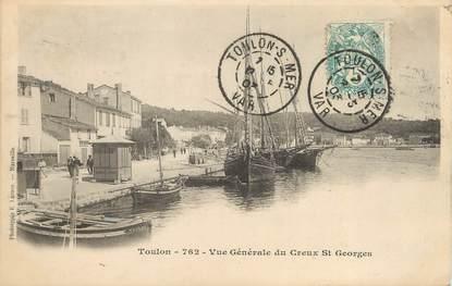 """/ CPA FRANCE 83 """"Saint Mandrier, Toulon, vue générale du creux Saint Georges"""""""
