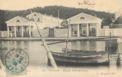 "/ CPA FRANCE 83 ""Toulon, hôpital Saint Mandrier"" / BATEAU"