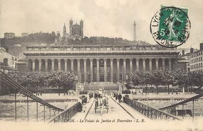 """/ CPA FRANCE 69 """"Lyon, le palais de justice et Fourvière"""""""