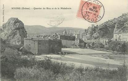 """/ CPA FRANCE 26 """"Nyons, quartier du Rieu et de la Maladrerie"""""""