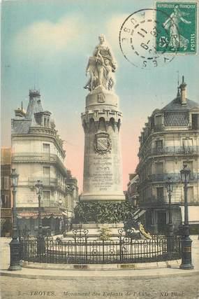 """/ CPA FRANCE 10 """"Troyes, monument des enfants de l'aube"""""""