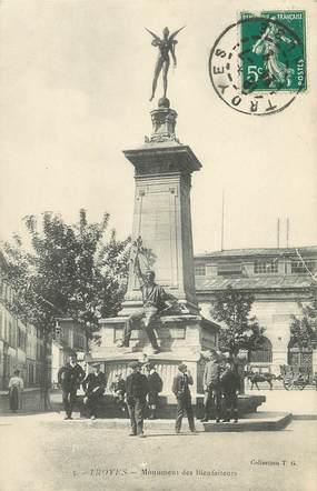 """/ CPA FRANCE 10 """"Troyes, monument des bienfaiteurs """""""