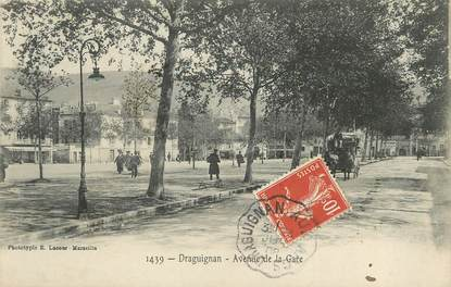 "/ CPA FRANCE 83 ""Draguignan, avenue de la gare"""