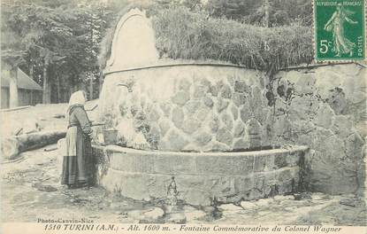 "/ CPA FRANCE 06 ""Turini, fontaine commémorative"""