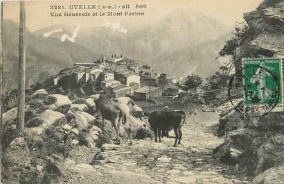 """/ CPA FRANCE 06 """"Utelle, vue générale et le Mont Ferion"""""""