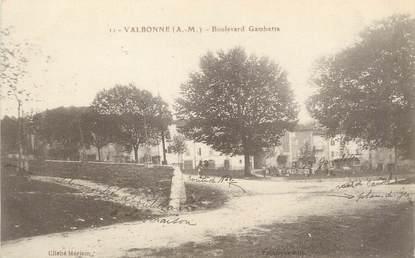 "/ CPA FRANCE 06 ""Valbonne, boulevard Gambetta"""