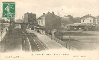 """CPA FRANCE 42 """"Saint Etienne, gare de la Terrasse"""""""