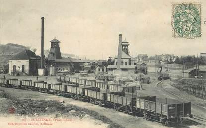 """CPA FRANCE 42 """"Saint Etienne,  Mines, Puits Châtelus"""""""