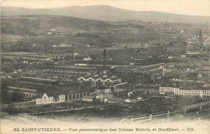 """CPA FRANCE 42 """"Saint  Etienne, vue panoramique des Usines Biétrix et Couffinal"""""""