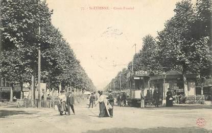 "CPA FRANCE 42 ""Saint  Etienne, Cours Fauriel"" / TRAMWAY"
