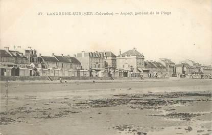 """/ CPA FRANCE 14 """"Langrune sur Mer, aspect générale de la plage"""""""