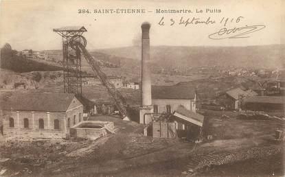 """CPA FRANCE 42 """"Saint  Etienne, Montmartre, le Puits"""" / MINE"""