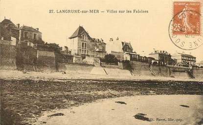 """/ CPA FRANCE 14 """"Langrune sur Mer, villas sur les Falaises"""""""