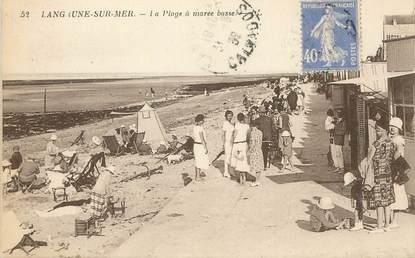 """/ CPA FRANCE 14 """"Langrune sur Mer, la plage à marée basse"""""""