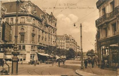 """CPA FRANCE 42 """"Saint  Etienne, Hotel des Ingénieurs et avenue Président Faure"""""""