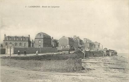 """/ CPA FRANCE 14  """"Langrune, route de Langrune"""""""