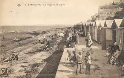 """/ CPA FRANCE 14  """"Langrune, la plage et la digue"""""""