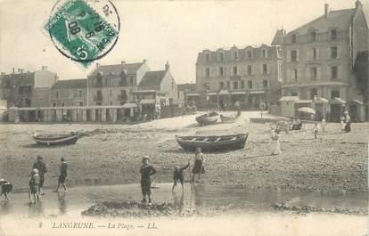 "/ CPA FRANCE 14  ""Langrune, la plage"""