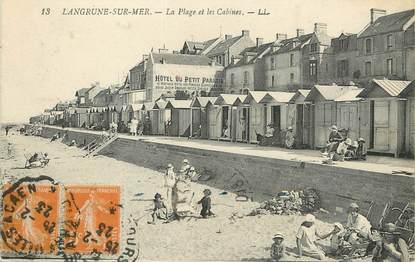 """/ CPA FRANCE 14  """"Langrune sur Mer, la plage et les cabines"""""""