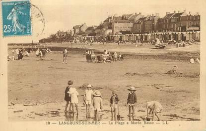 """/ CPA FRANCE 14  """"Langrune sur Mer, la plage à marée basse""""'"""
