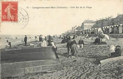 """/ CPA FRANCE 14  """"Langrune sur Mer, côté Est de la Plage"""""""