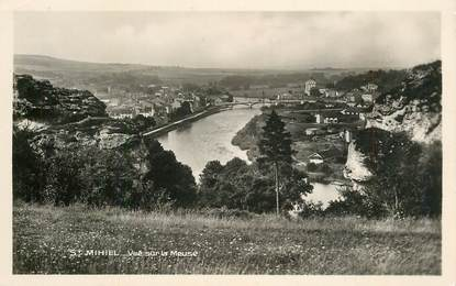 """CPSM FRANCE 55 """"Saint Mihiel, vue sur La Meuse"""""""