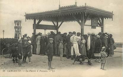 """/ CPA FRANCE 14  """"Langrune, la Pierre à poisson"""""""