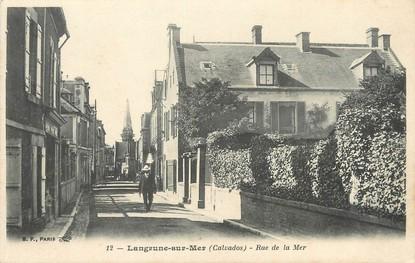 "/ CPA FRANCE 14  ""Langrune sur Mer,  rue de la Mer"""