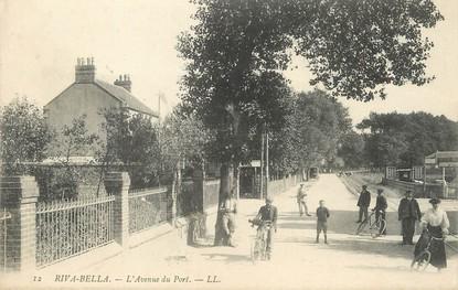 "/ CPA FRANCE 14 ""Riva Bella, l'avenue du port"""