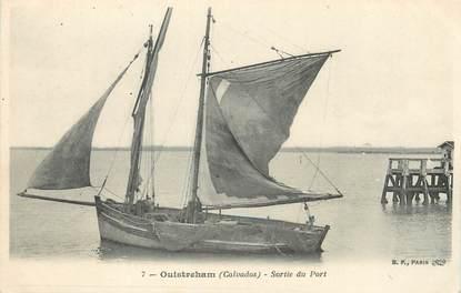 """/ CPA FRANCE 14 """"Ouistreham, sortie du port"""""""