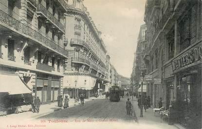 "CPA FRANCE 31 ""Toulouse, rue de Metz"" / TRAMWAY"