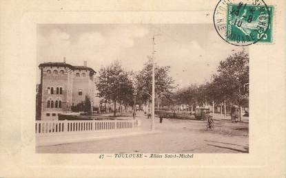 "CPA FRANCE 31 ""Toulouse, Allées Saint Michel"" / TRAMWAY"