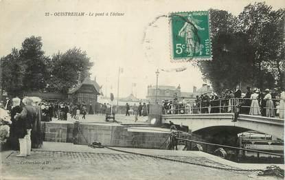"""/ CPA FRANCE 14 """"Ouistreham, le pont à l'écluse"""""""