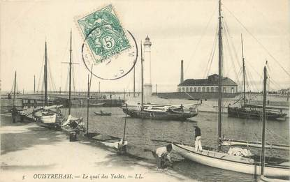 """/ CPA FRANCE 14 """"Ouistreham, le quai des Yachts"""""""