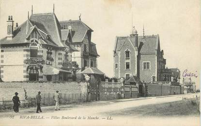 "/ CPA FRANCE 14 ""Riva Bella, villas boulevard de la manche"""