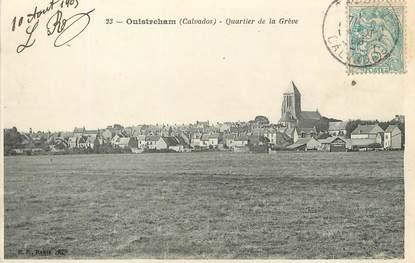 """/ CPA FRANCE 14 """"Ouistreham, quartier de la grève"""""""