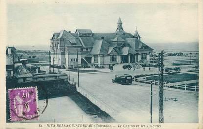 """/ CPA FRANCE 14 """"Riva Bella Ouistreham, le casino et les pelouses"""""""