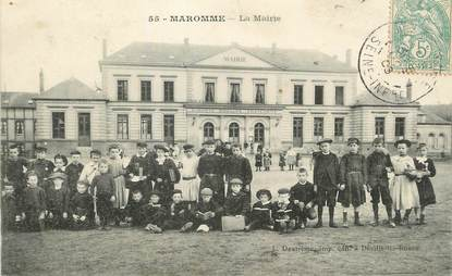 "/ CPA FRANCE 76 ""Maromme, la mairie"""