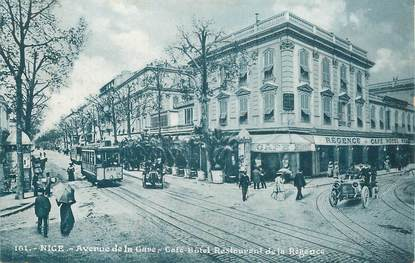 """CPA FRANCE 06 """"Nice, avenue de  la gare"""""""