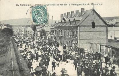 """/ CPA FRANCE 76 """"Maromme, défilé des sociétés se rendanr à l'inauguration du monument"""""""