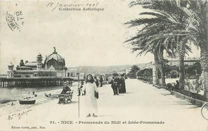 "CPA FRANCE 06 ""Nice, Promenade du midi et la Jetée"""