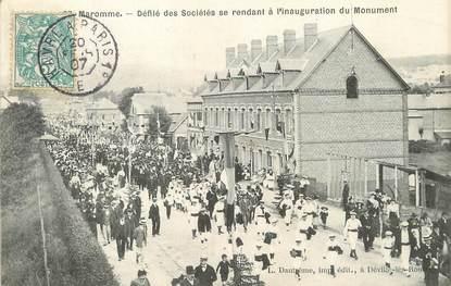 """/ CPA FRANCE 76 """"Maromme, défilé des sociétés se rendant à l'inauguration du monument"""""""