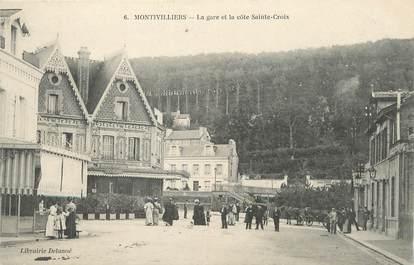 """/ CPA FRANCE 76 """"Montivilliers, la gare et la côte Sainte Croix"""""""