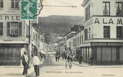 """/ CPA FRANCE 76 """"Montivilliers, rue Léon Gambetta"""""""