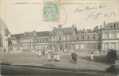 "/ CPA FRANCE 76 ""Pavilly, la Mairie"""
