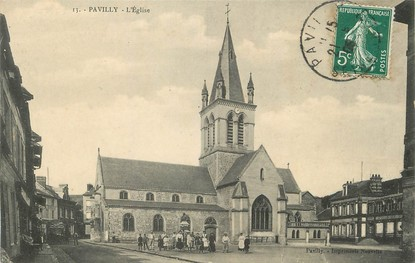 "/ CPA FRANCE 76 ""Pavilly, l'église"""