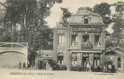 """/ CPA FRANCE 76 """"Forges Les Eaux, hôtel de la gare"""""""